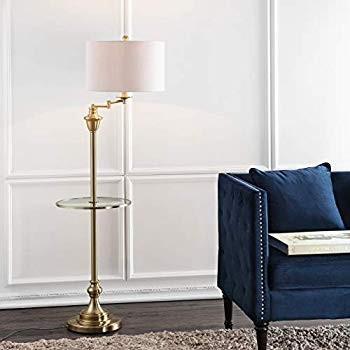 "JONATHAN Y JYL3055A Cora 60"" Metal/Glass Floor Lamp, Brass ゴールド ゴールド ゴールド a36"
