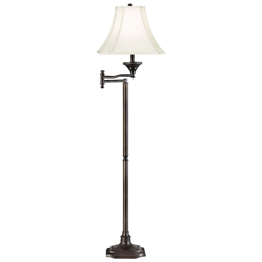 Kenroy Home 33051BBZ Wentworth Swing Arm Floor Lamp Lamp Lamp with Cream Cut Cor c49