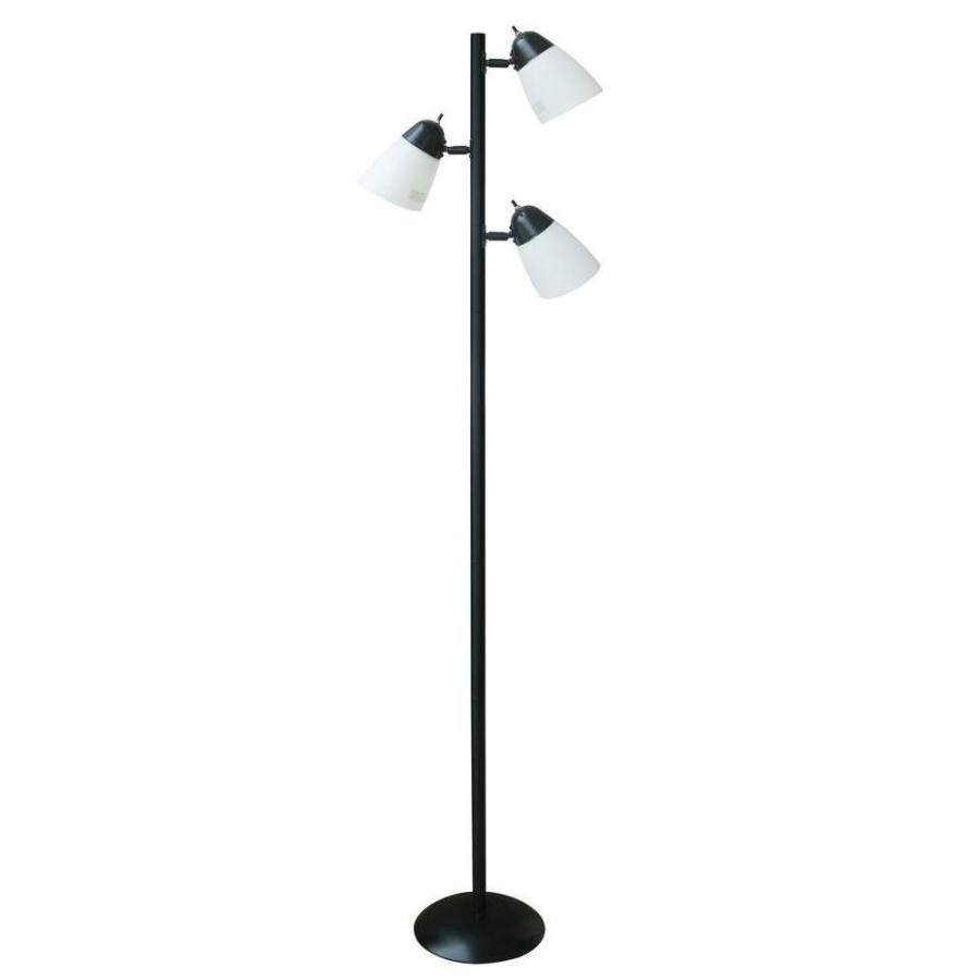 Hampton Bay 65.4 in. 黒 Track Tree Floor Lamp with CFL Bulbs