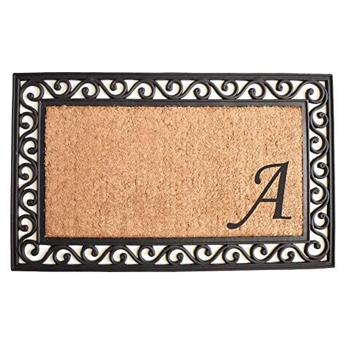 Home & More 104022236 Versailles Monogram Doormat 22
