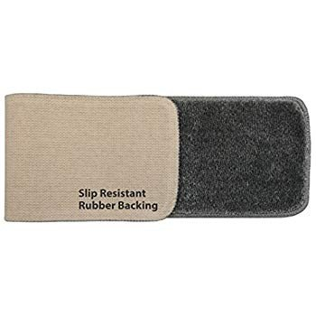 Washable, Slip Skid Resistant Rubber Back Stair Tread Mats, 9 inch by