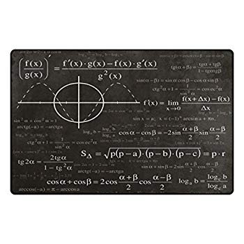 Florence Math And Physics Formula Area Rug Non-Slip Doormats Carpet Fl