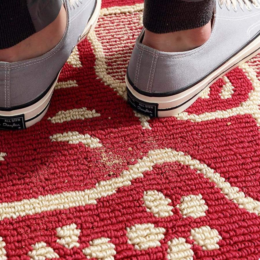 ESUPPORT Outdoor Indoor Doormat Retro Lucky Cat 赤 Entrance Floor Mat