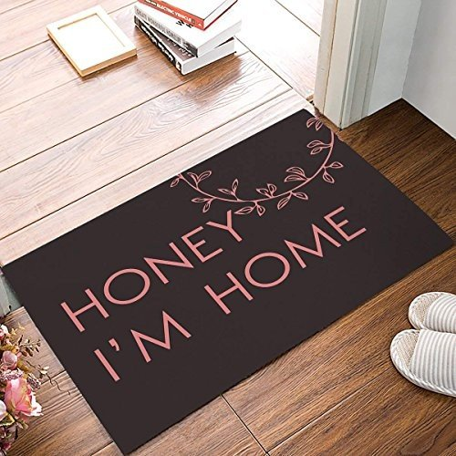 YEHO Honey I'M Home - 褐色 Cute Lovely Door Mats Kitchen Floor Bath E