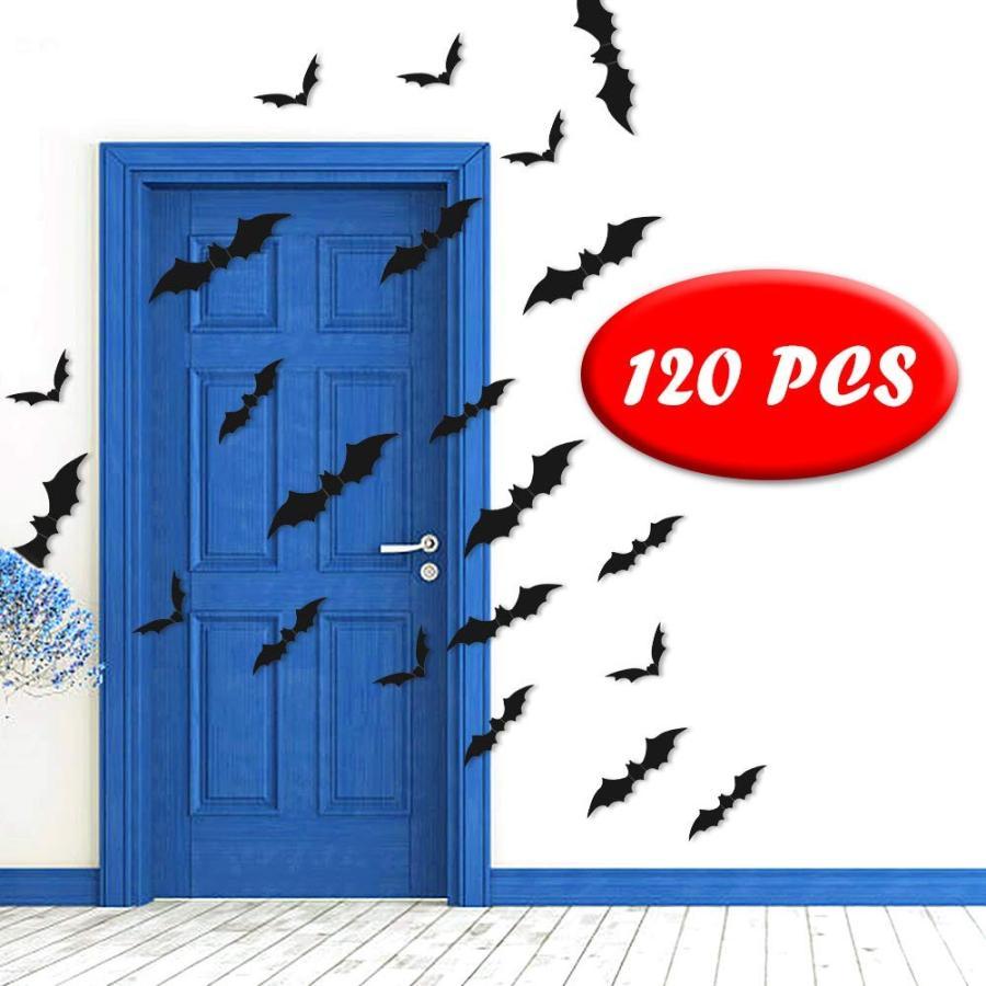 Halloween Wall Bat Stickers Decor- 3D Bat Decals Party Supplies for Ho