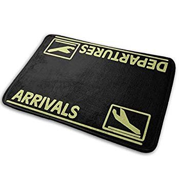 Indoor/Outdoor Mats Arrivals And Departures Super Door Mat Bathroom Ma