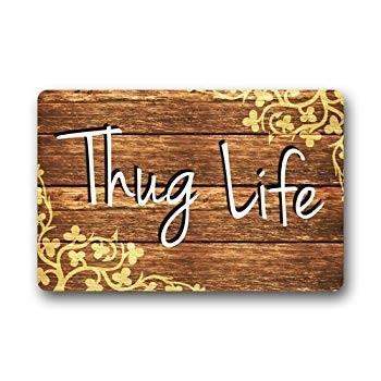 Thug Life Doormat, Doormat Entrance Mat Floor Mat Rug Indoor/Outdoor/F