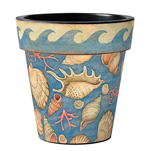 Studio M AP25061 Durable Coordinating Planter Pots, 2 Sizes, Mermaid T