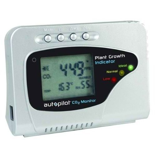 NEW Hydroponics LCD Display Co2 & Temperature Monitor Plant Growth Ind
