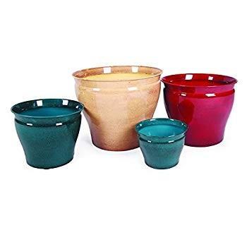 Robert Allen Home and Garden MPT01603 Metal Planter Flower Pot Avery C