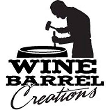 Natural Wine Barrel Planter