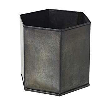 AC Decor Slate グレー Metal Hexagon Planter, 5