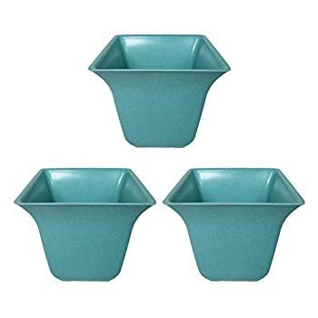 Biodegradable Bamboo Planters Perfect for Easy Gardening (3, Teal)