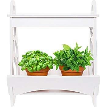 Mindful Design LED Indoor Herb Garden - at at at Home Mini Planter Kit for H e46
