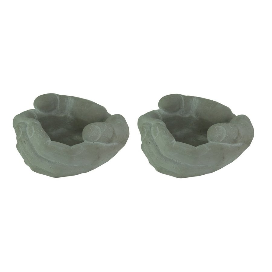 Small Helping Hands Cement Planter Set of 2