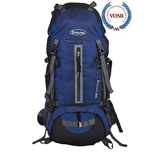 DURATON Hiking Backpack 50L with Hydration Compatibility, Daypack with