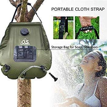Pard Portable Outdoor Bath Bag, 20L PVC Water Storage Bag, Self-Drivin