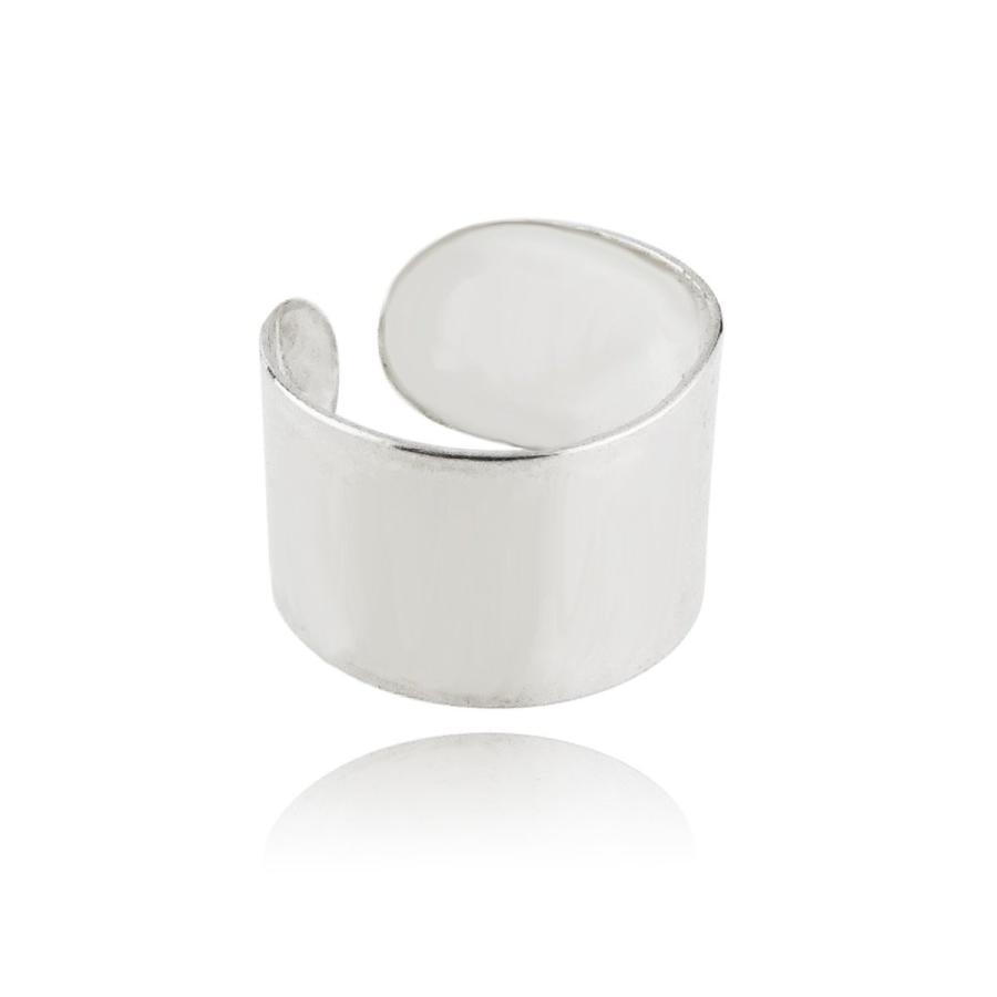 大人気の Sterling Silver Solid Wide Band Wide Ear Wrap Silver Left Cuff Earring, Left or Right E, カミクイシキムラ:db7c769f --- lighthousesounds.com