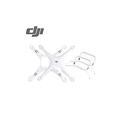 Phantom 4 Pro Top and Bottom Shell Cover with 2 Landing Gear(Not Compa