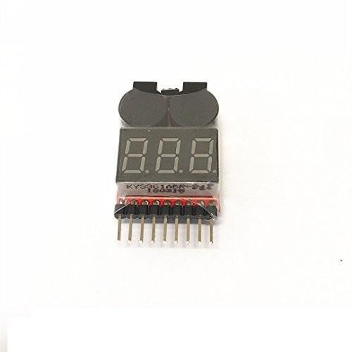 IFLYRC RC 1-8s Lipo Battery Tester Monitor Low Voltage Buzzer Alarm Vo