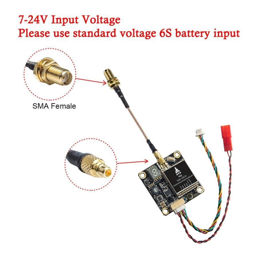 AKK FX2 5.8Ghz FPV Transmitter 25mW/200mW/500mW/800mW VTX with MMCX Su
