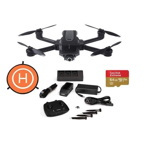 Yuneec Mantis Q Foldable Camera Drone with WiFi Remote - Bundle with 6