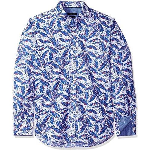 BUGATCHI Mens Cotton Slim Fit Long Sleeve Shirt