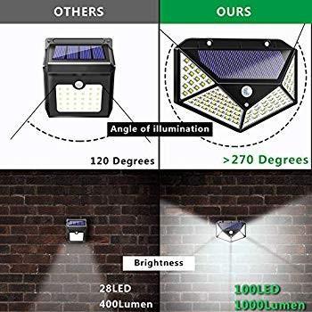 Solar Lights Outdoor, Solar Powe赤 Powe赤 Motion Sensor Lights 100 LEDs Outd