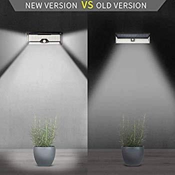 Super Bright 136 LED Solar Lights Outdoor,Optional 3 Smart Lighting Mo