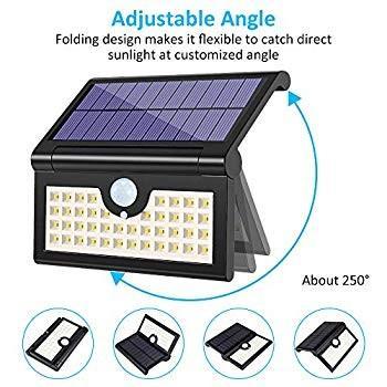 Foldable Solar Lights Outdoor 42 LED, Pobon Waterproof Waterproof Super Bright 3