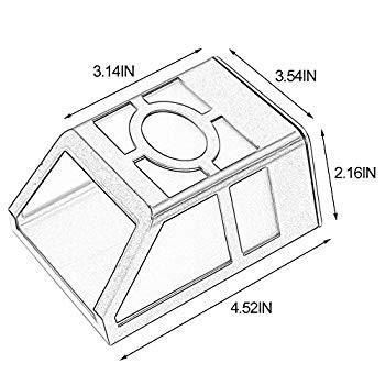 MIYOLE Pack of 4 4 Warm 白い LED Solar Lights Outdoor Waterproof Garden