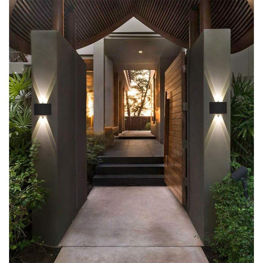 Pathson Modern Outdoor Wall Wall Light, 4 LEDs Hallway Porch Wall Sconce, U