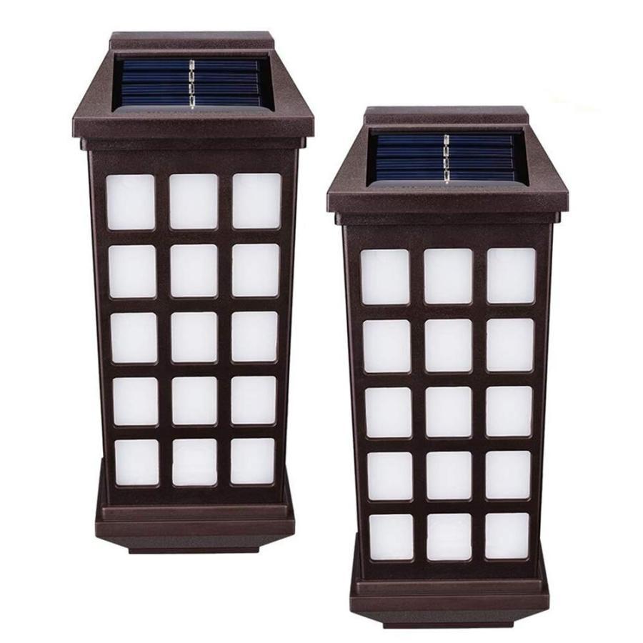 Solar Fence Lights Outdoor,AVEKI LED Solar Powe赤 Wall Lights Waterpr Waterpr