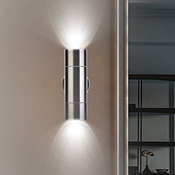 Outdoor Waterproof Stainless Steel Wall Light, Modern Porch Light Fixt