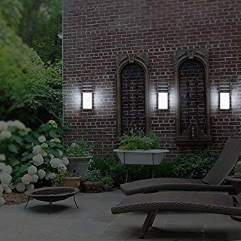 LED Porch Sconce Light, ONEVER IP65 Waterproof Wall Sconce Outdoor Outdoor Por