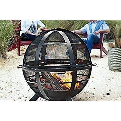 Landmann USA 28925 Ball of Fire Outdoor Fireplace, 黒