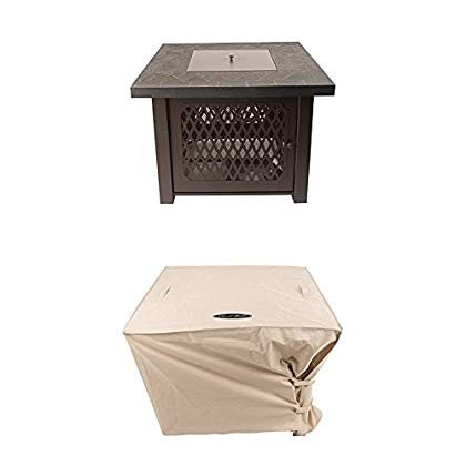 Pleasant Hearth OFG828T Walden Gas Fire Pit Table Propane with Square