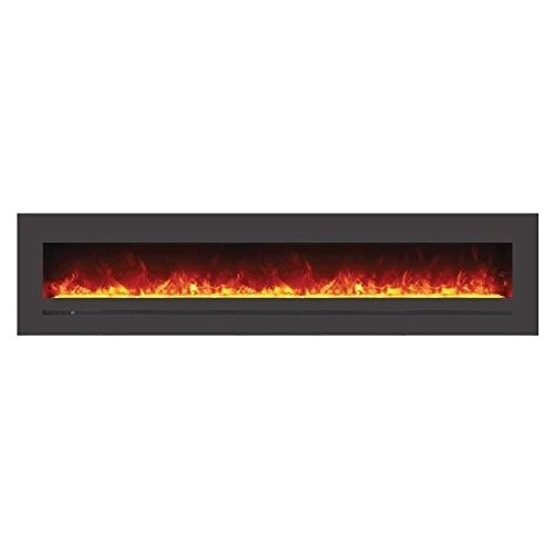 Sierra Flame Electric Fireplace with Surround (WM-FML-88-9623-STL), 88