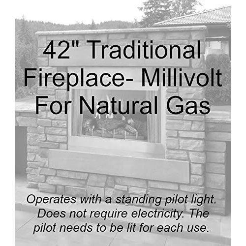 Outdoor Traditional 42 inch Premium Fireplace OP42FP32MN - Natural Gas