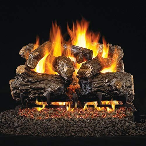 Peterson Real Fyre 30-inch Burnt Rustic Oak Gas Log Set With Vented Na