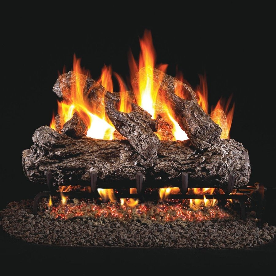 Peterson Real Fyre 24-inch Rustic Oak Gas Log Set With Vented Natural