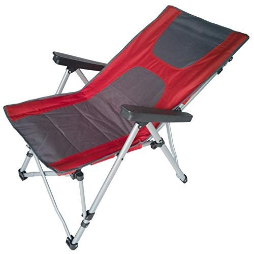 ANIGU 4-Position Camping Chair Folding Heavy Duty with Adjustable Recl Recl