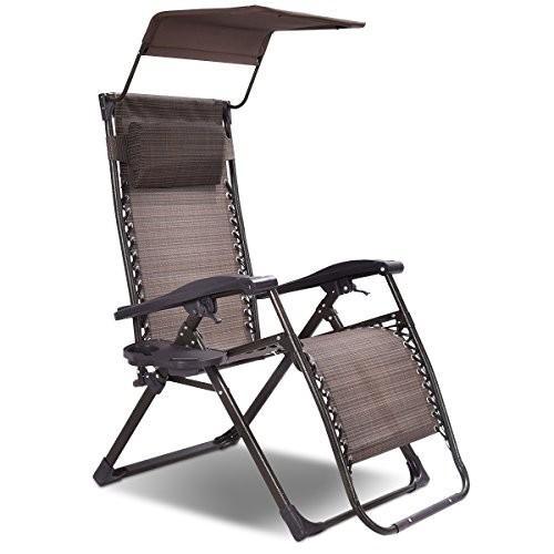 Goplus Folding Zero Gravity Chair Lounge Patio Patio Outdoor Yard Pool Recli