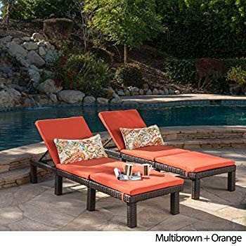 Christopher Knight Home Jamaica Outdoor Chaise Lounge with Cushion (Se