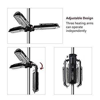 Skypatio Electic Parasol Patio Heater, Folding Electric Outdoor Umbrel