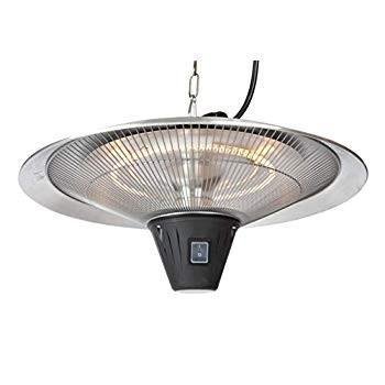 Fire Sense 62221 Gunnison Patio Heater, Silver