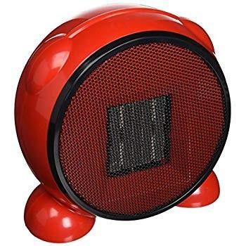e-Joy KingMys Portable Fan/Space/Desktop Heater, Red, 500W