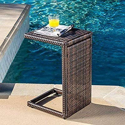 Christopher Knight Home 297003 Forrest Outdoor Wicker Accent Table, Mu