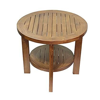 ALATEAK Indoor Outdoor Patio Garden Yard Bath Coffee Side Round Table