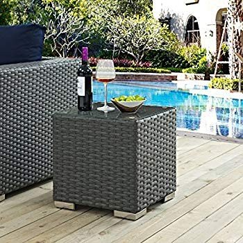 Modway Modway EEI-1853-CHC Sojourn Wicker Rattan Outdoor Patio Coffee Table,